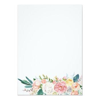 Small Change Plans Bridal Pink Floral Virtual Shower Invitation Back View