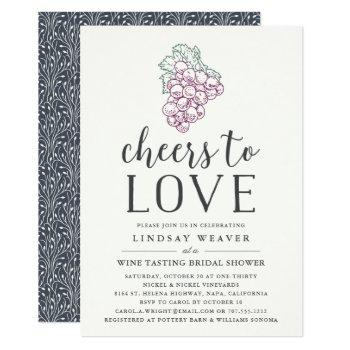 cheers to love | wine tasting bridal shower invite
