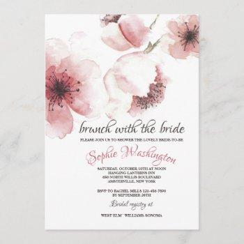 cherry blossoms closeup invitation