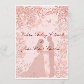 cherry blossoms in paris wedding invitation