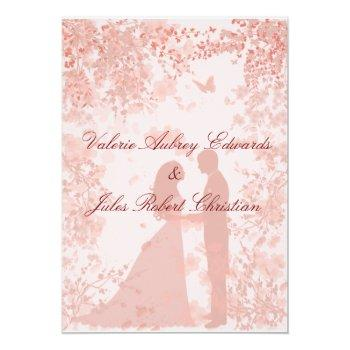 cherry blossoms in paris wedding invitation