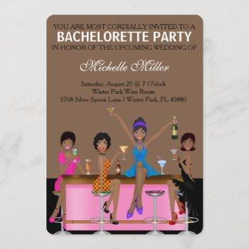 chic bachelorette bash custom invtiation invitation