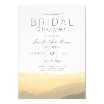 chic blush mountain watercolor | bridal shower invitation