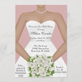 chic elegant white modern day bridal shower invite