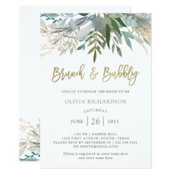 chic foliage | brunch and bubbly invitation