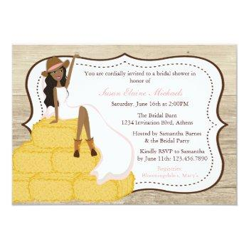 chic pink cowgirl country bride bridal shower invitation