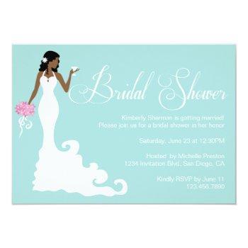chic teal modern bride posh bridal shower invite