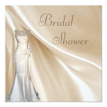 chic vintage wedding dress bridal shower invitation