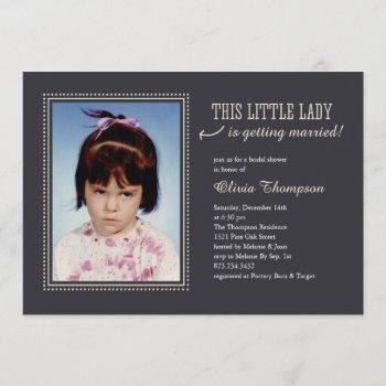 childhood photo bridal shower invitations