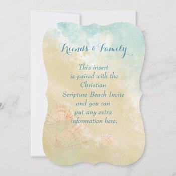 christian scripture beach ocean,seashell wedding invitation