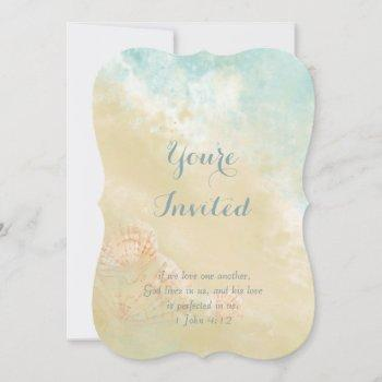 christian scripture beach seashell destination invitation