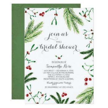 christmas bridal shower invitation