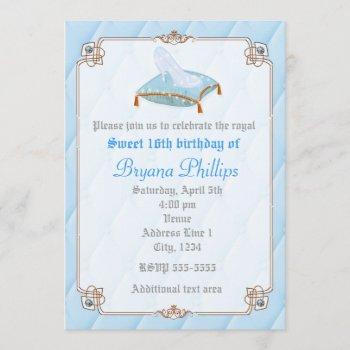 cinderella elegant chic princess royal invitation