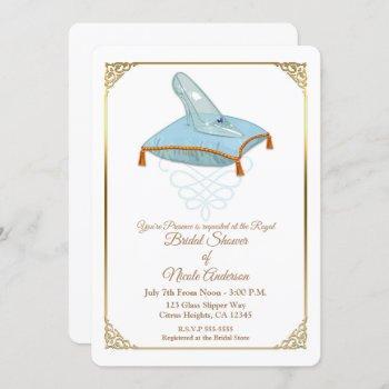 cinderella glass slipper elegant bridal shower inv invitation