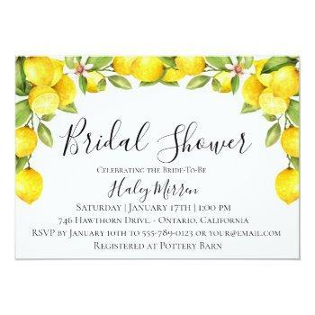 citrus orchard bridal shower invitation