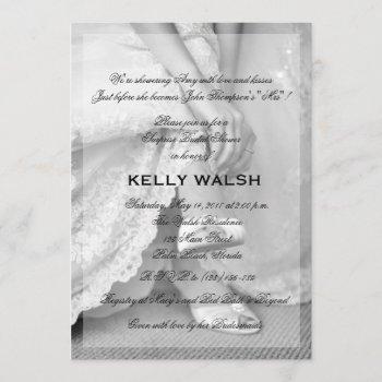 classic bridal shower invitation black and white