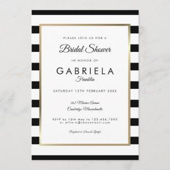 classic stripe wedding | bridal shower invitation