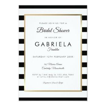 classic stripe wedding | bridal shower invitation