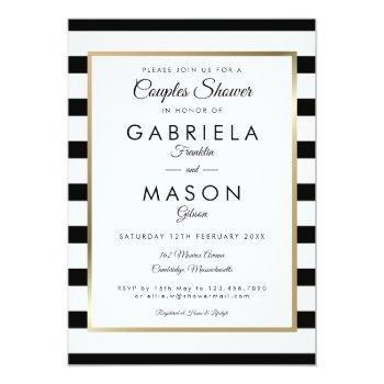 classic stripe wedding | couples shower invitation
