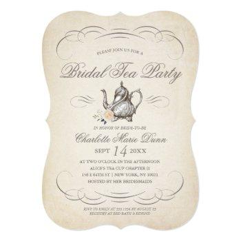 classy vintage bridal tea party | bridal shower invitation