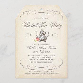 classy vintage bridal tea party | bridal shower invitation
