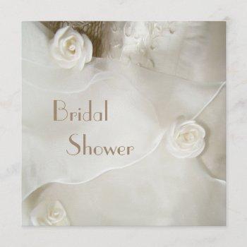 classy vintage wedding gown bridal shower invitation