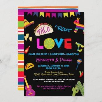 coloful taco bout love fiesta couples shower invitation