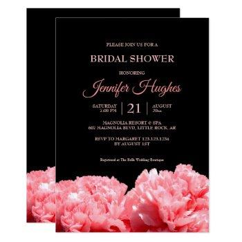 colorful and vibrant black & pink  bridal shower invitation