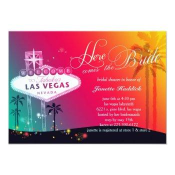 colorful las vegas bridal shower invitation