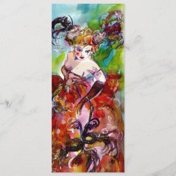 columbine,mardi gras, sweet 16 masquerade party invitation