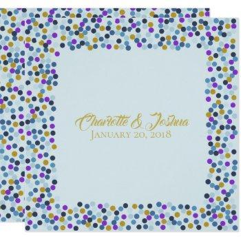 cottage roses wedding suite shower polka dots invitation