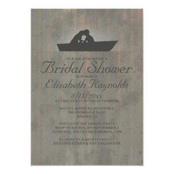 country boat bridal shower invitations