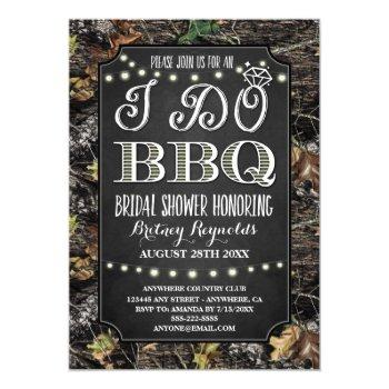 country camo i do bbq bridal shower invitations
