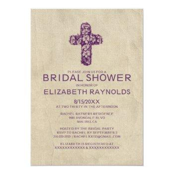 country iron cross bridal shower invitations