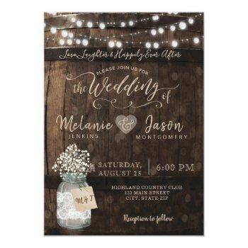 Country Rustic Wood Barrel Wedding Invitations Front View