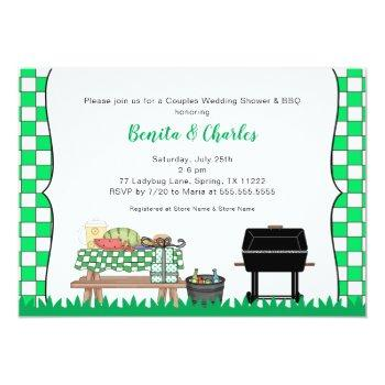 couples bridal or wedding shower bbq party invitation