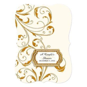 couple's bridal shower glam old hollywood regency invitation