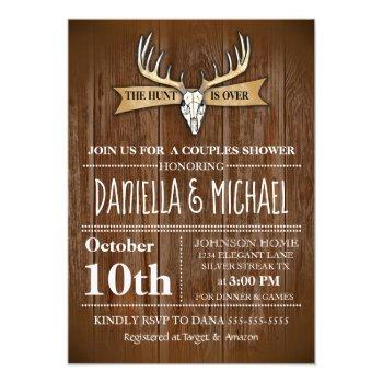 couples wedding shower hunt is over wedding invitation
