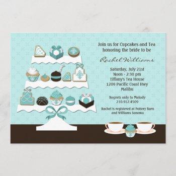 cupcakes bridal shower invitation