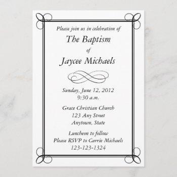 custom black invitation - scroll design
