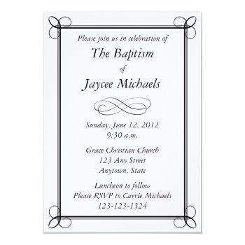 custom black invitation - scroll design