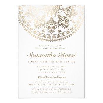 custom color bridal shower invitations gold foil