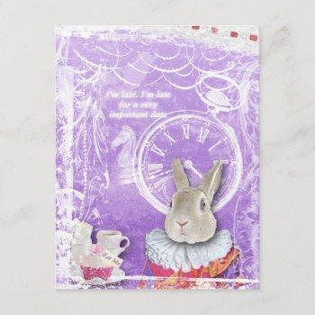 cute alice in wonderland bridal shower collage invitation