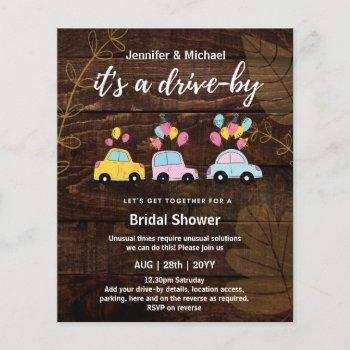 cute budget drive-by bridal shower invitations