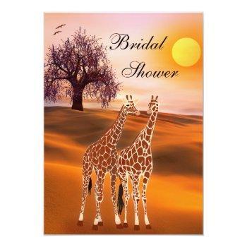 cute giraffe bridal shower invitation