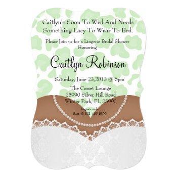 cute lace bra lingerie bridal shower invitation