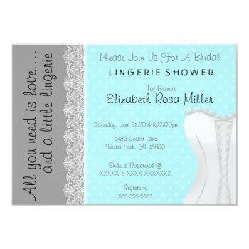 cute white lace corset lingerie bridal shower invitation