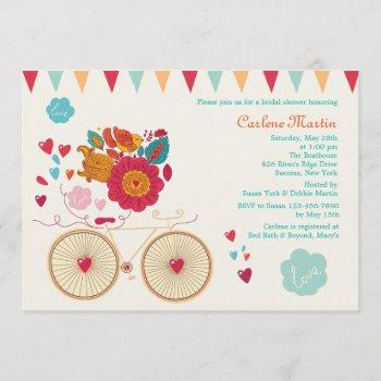 cycle of love bridal shower invitation