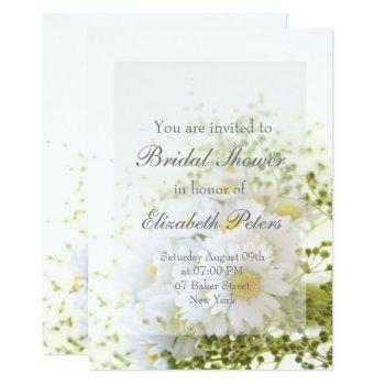 daisies in love- editable bouquet bridal shower invitation