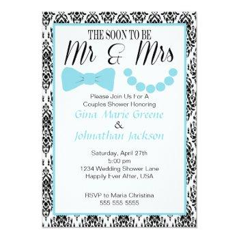damask mr. and mrs. shower invitation (2)